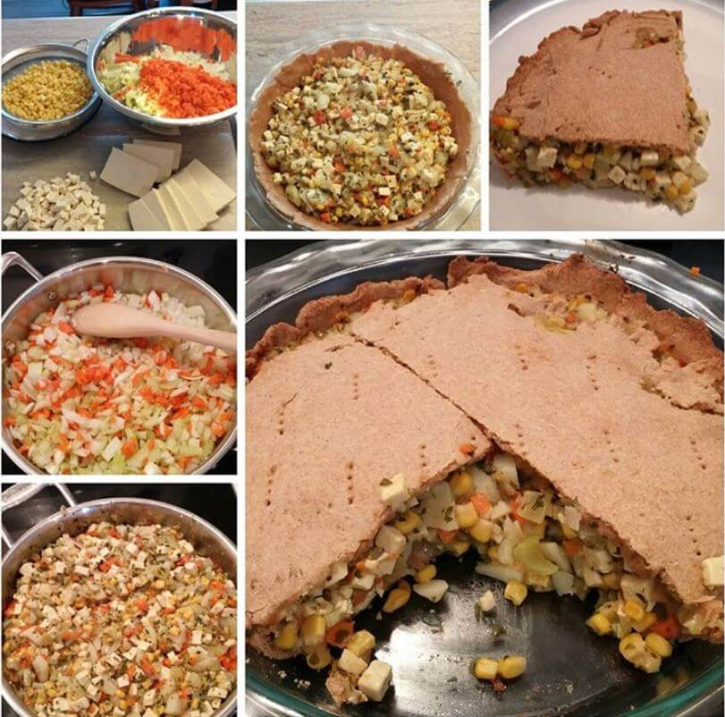 How to Make Tofu Veggie Pie