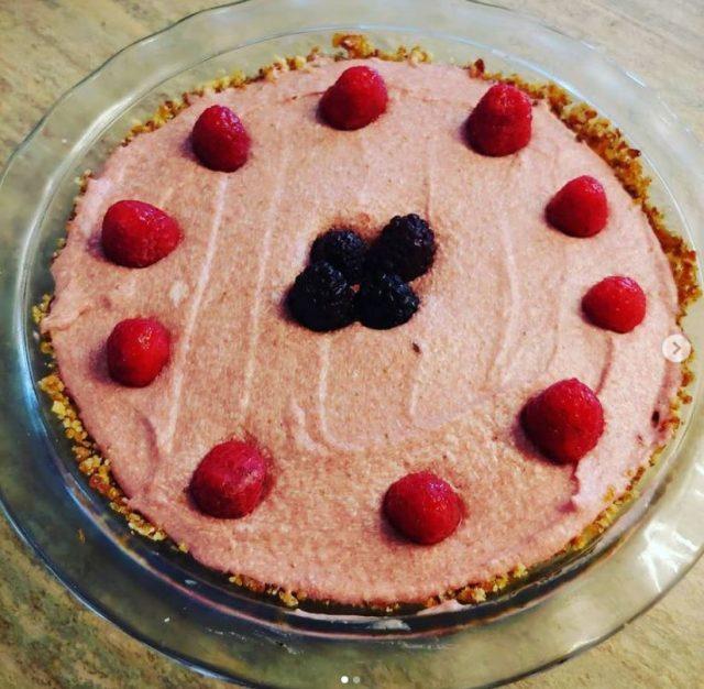 Raw Coconut & Strawberry Pie