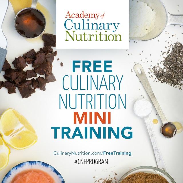 Free Culinary Nutrition Mini Training